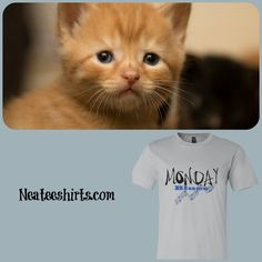 Got the Monday Blues?  Our Monday tees can make them a bit brighter.  Our custom tees are sure to please.  Chocolate, quotes, dogs, cats, reptiles, flowers, butterflies, hearts - lots of t-shirts  to choose from!