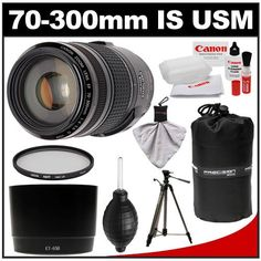 Canon EF 70-300mm f/4-5.6 IS USM Zoom Lens with Hoya UV Filter + Hood + Canon Tripod Kit for EOS 5D Mark II III, 6D, 7D, 70D, Rebel T3, T3i, T5i, SL1 Cameras - http://slrscameras.everythingreviews.net/6456/canon-ef-70-300mm-f4-5-6-is-usm-zoom-lens-with-hoya-uv-filter-hood-canon-tripod-kit-for-eos-5d-mark-ii-iii-6d-7d-70d-rebel-t3-t3i-t5i-sl1-cameras.html
