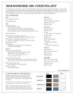 Men's Wardrobe Checklist