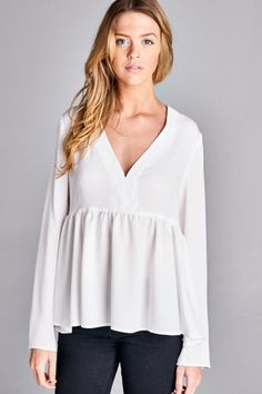 Audra baby doll blouse