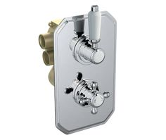 V12181012AS Edwardian 2 Outlet Twin Shower Mixer front_angle square medium