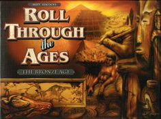 In Roll Through the Ages, players roll dice to obtain commodities and workers to build up their civilizations. Dice can be rerolled twice unless they come up as a hazard. Players use their workers to build infrastructure to support additional works or to