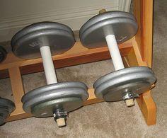 Diy Dumbbell Rack Workout Stuff Pinterest At Home