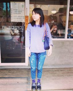 """8 Likes, 1 Comments - Sheng Ting (老王) (@shengtingwang) on Instagram: """"#井町 初體驗 #lunchtime 🍽 #中山站 #ootd #outfit #todayslook #today #lunch #drmartens #longchamp"""""""