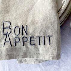 Bon Appetit Napkin (Set of 4)