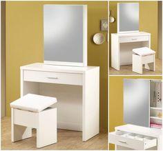 Bedroom Vanity Set Wood Table Stool Bench Console Desk Storage Makeup Dressing #CoasterFurniture #ContemporaryModern