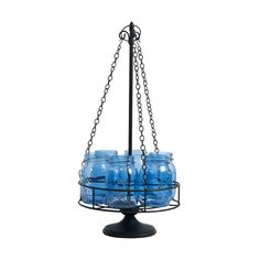 6-Light Mason Jar Chandelier Centerpiece