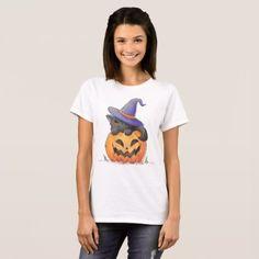 Cute Cat on a Pumpkin Halloween | Shirt - Halloween happyhalloween festival party holiday