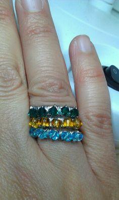 Ring wire alluminio e cristalli
