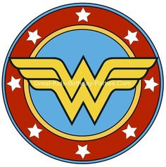 Free Superhero Printables - Wonder Woman printable sticker, small and large sizes.