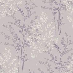Fern Motif Wallpaper - Heather
