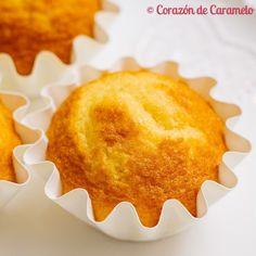Magdalenas de naranja Baking Recipes, Cake Recipes, Pie Cake, Breakfast Bake, Mini Cakes, Cup Cakes, Pound Cakes, Fondant Cakes, Gastronomia