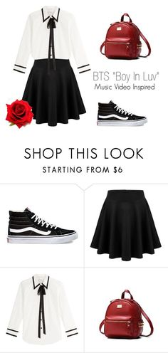 """""""BTS """"Boy In Luv"""" Music Video Inspired Outfit"""" by mochimchimus on Polyvore featuring Vans, Marc Jacobs and bts"""