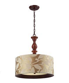 Look at this #zulilyfind! Dark Walnut Nathan Three-Light Pendant Light #zulilyfinds