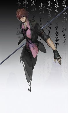 so a bunch of people fighting but no magic just weapons. this guy is really fast and swings/twirls his weapon fast. is there a point? like a javelin