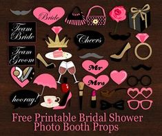 Today I made these more than 35 and super adorable Free Printable Bridal Shower Photo Booth Props. You can print these props using your home printer. These props will help you getting fun filled pi…