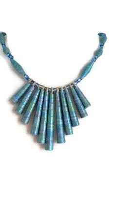 *Oceanic* Paper Bead Bracelet