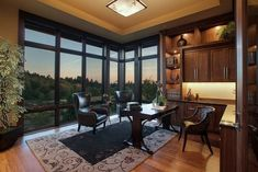 I Think I Could Be Productive in These Awesome Home Offices (36 Photos) - Suburban Men Man Cave Inspiration, Interior Inspiration, Aspen Lodge, Home Office Layouts, Cozy Home Office, Amazing Spaces, Home Staging, Cozy House, Luxury Homes
