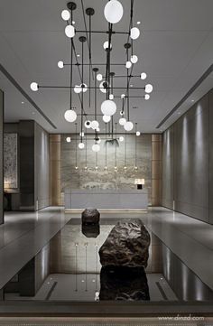 48 Ideas Bedroom Hotel Luxury Bathroom For 2019 Luxury Lighting, Luxury Home Decor, Luxury Homes, Lobby Interior, Interior Design, Design Interiors, Matrix Design, Hotel Reception, Reception Counter