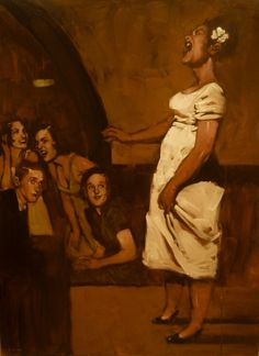 American artists, contemporary art, contemporary artists, Figurative painting, oil painting I can hear her voice! African American Art, African Art, American Artists, Norman Rockwell, Pinterest Arte, Guache, Wow Art, Figure Painting, Oeuvre D'art