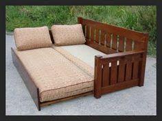 Voorhees Craftsman Mission Oak Furniture   Limbert Style Sofa Bed