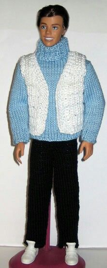 Pattern #613 @ http://www.stickatillbarbie.se/ HUGE CATALOG of Barbie style doll knit wardrobe patterns, including male doll. Patterns  can be downloaded in in Swedish, Danish, Dutch, English, French, German, Italian, Norwegian, Russian and Spanish