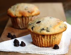 Yes, please! Ricotta/Chocolate Chip Muffins.
