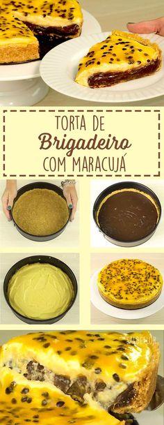 Torta delicioso de brigadeiro com maracujá, fica sensacional!!