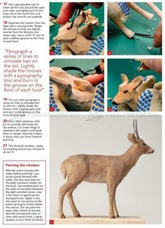 #2344 Reindeer Carving - Wood Carving Patterns - Wood Carving