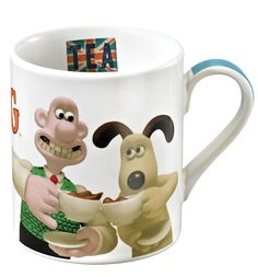 Wallace and Gromit Time For Tea Mug - Homeware - Aardman Best Coffee Mugs, Tea Mugs, Happy Tea, Chicken Runs, Mom Mug, Retro Gifts, Love To Shop, Christmas Gifts, Cool Stuff