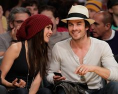 Back in May 2010, Nina Dobrev and Ian Somerhalder shared a laugh at a | Look Back at Ian and Nina's Best Moments | POPSUGAR Celebrity