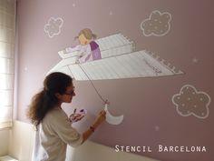 Habitaciones infantiles. Murales pintados a mano. #Stencilbarcelona