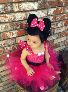 Tutu Dress with Matching Headband Minnie Mouse by ZulettsCreations, $35.00