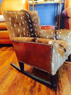 Rustic Cowhide Furniture – Home Rustic Cowhide Furniture, Cowhide Chair, Dining Room Hutch, Dining Room Chairs, Western Rooms, Chair Pictures, Rustic Chair, Dining Room Lighting, Chair And Ottoman