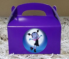 12 Labels Or Boxes & Labels 12 Vampirina Treat Boxes, Vampirina Gable Boxes, Vampirina Party Boxes, Vampirina Stickers LOGO 2 Birthday, 4th Birthday Parties, Gable Boxes, Party In A Box, Ideas Para Fiestas, Candy Bags, Party Themes, Party Ideas, First Birthdays