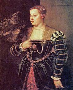 Titian Tiziano Vercelli (1488-1576) Titian's Daughter Lavinia c1560