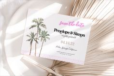 """Wedding Invitation Templates on Instagram: """"Capture the wedding vibe from the beginning - starting with your save the date! Shop our PS collection now, link in bio! 🌴 #somedaypaperco…"""" Wedding Invitation Templates, Wedding Invitations, Papers Co, California Wedding, Save The Date, Ps, Wedding Inspiration, Dating, Link"""