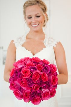 Brilliant Colors | #Bouquet | Full Feature on #SMP http://www.stylemepretty.com/illinois-weddings/2013/01/10/chicago-wedding-at-prairie-production-from-carasco-photography/