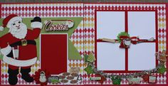 AMAZING GRACE: Cookies for Santa GREAT LAYOUT! I'm not a huge Santa fan so I think I would us a gingerbread man or change the theme to Christmas morning and place a large Christmas tree and presents in place of baking embellishments Recipe Scrapbook, Baby Scrapbook, Scrapbook Cards, Scrapbook Albums, Wedding Scrapbook, Scrapbook Sketches, Scrapbook Page Layouts, Christmas Scrapbook Layouts, Scrapbooking Ideas