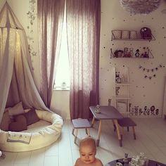 Sänghimmel Light Grey och myspöl Ivory 120 cm, kollektion NG Baby Mood. | Källa: Gabriella Joss