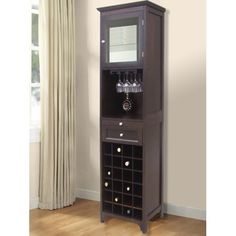 Found it at Wayfair - McCar 24 Bottle Floor Wine Cabinet - An idea for a corner space.