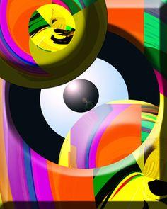 "The Abstract Eye Saatchi Online Artist Boi K' Boi; Digital, ""The Abstract Eye "" #art"