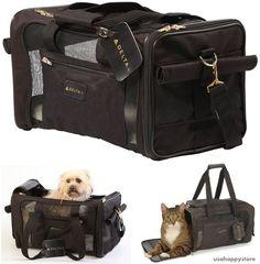 Pet Carrier Bag Airline Approved Cat Small Dog Case Travel Shoulder Strap Tole #Sherpa