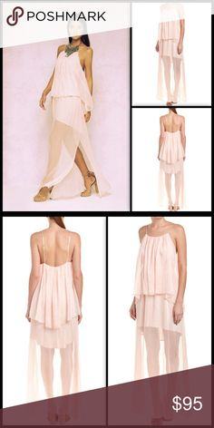 THE JETSET DIARIES 🍬 Lanza Maxi Dress NWT Sweet elegance!  Soft and light blush sheer layers seem to float with you!   Color/pattern: blush Approximately 61in from shoulder to hem Measurement was taken from a size small and may vary slightly by size Model is 5ft 10in Design details: chiffon design, draped popover detail, adjustable shoulder straps Slip-on styling Self: 100% polyester Lining: 100% rayon Hand wash Imported NWT The Jetset Diaries Dresses Maxi