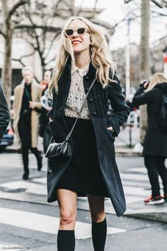 PFW-Paris_Fashion_Week_Fall_2016-Street_Style-Collage_Vintage-Miu_Miu-Chloe_Sevigny-Socks-2