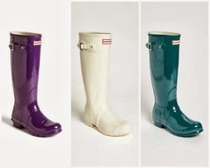 Tall and Shiny Hunter boots.  You need a pair.  Now.