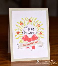Chunyuan Wu for Avery Elle using Build A Banner, Winter Wreath & Simply Tags: Christmas clear stamps and dies.