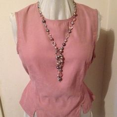 D.P.S. New York top Soft pink with keyhole back. D.P.S. New York Tops