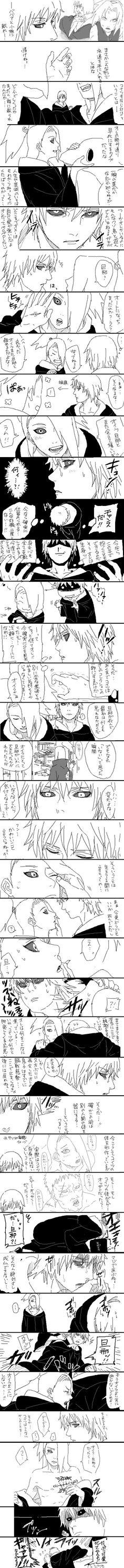 Sasori and Deidara Sasunaru, Sasori And Deidara, Itachi Uchiha, Gaara, Boruto, Anime Naruto, Naruto Comic, Naruto Funny, Manga Anime