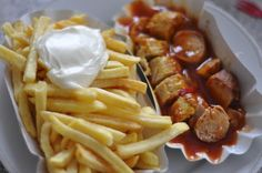 recette traditionnelle saucisse allemande : Currywurst                                                                                                                                                     Plus